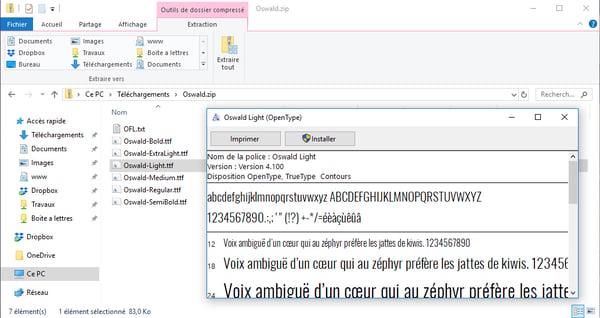 Ajouter une polices de caractères sur votre ordinateur